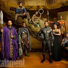 THE BLACK PANTHER, WAKANDA CREW IN STUNNING PICTURES IN ENTERTAINMENT WEEKLY'S COMIC CON ISSUE