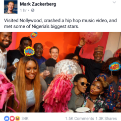 """THIS IS NIGERIA"" THROUGH THE LENSE OF FACEBOOK FOUNDER, MARK ZUCKERBERG"