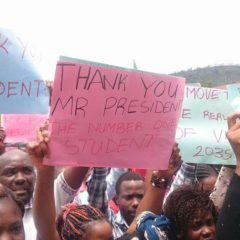 UNIVERSITY STUDENTS IN BAMENDA & YAOUNDE HIT THE STREETS TO SHOW APPRECIATION FOR THE PROMISE OF LAPTOPS