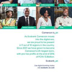 ECOBANK CAMEROON ISSUES STATEMENT ADDRESSING RUMOURS OF BANK CLOSURE!
